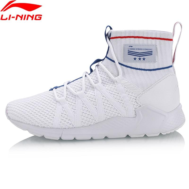 Li-Ning Men PLANET Sport Walking Shoes Support Sneakers Sock-Like Stability LiNing Sneakers Fitness Sports Shoes AGLN007 YXB130 original li ning men professional basketball shoes