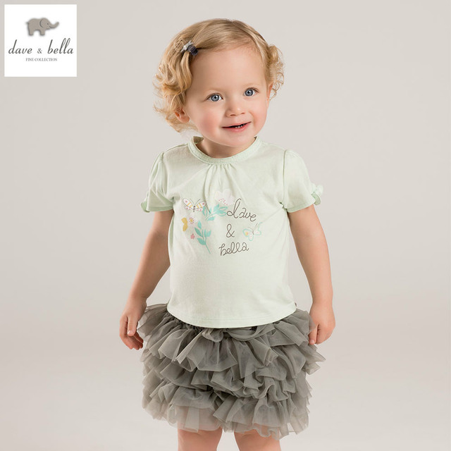 ba22e45d6f6e8 US $27.8  DB5663 dave bella summer baby girls boutique t shirt printed t  shirt infant clothes girls cute T shirt baby tee girl tops-in Tees from ...