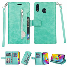 Multifunction Phone Cover for Huawei Honor 8A Zipper Wallet 9 Card Slot Holders Flip Leather Case Y7 Y6 2019 Bag