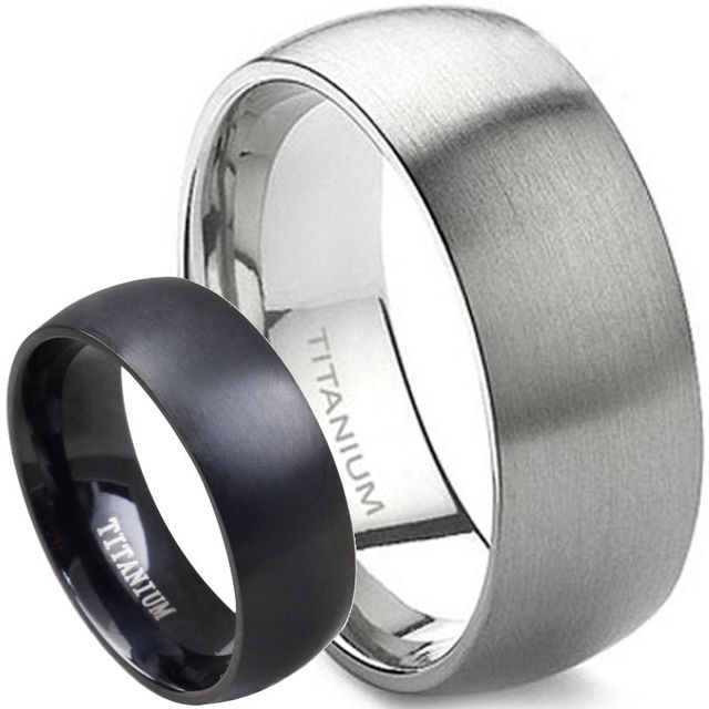 9c7fcb5f58c8c US $4.99 |Aliexpress.com : Buy 8MM Men Size 7 15 Classic Simple Plain  Brushed Pure Solid Titanium Wedding Engagement Band Ring Husband Father's  Day ...