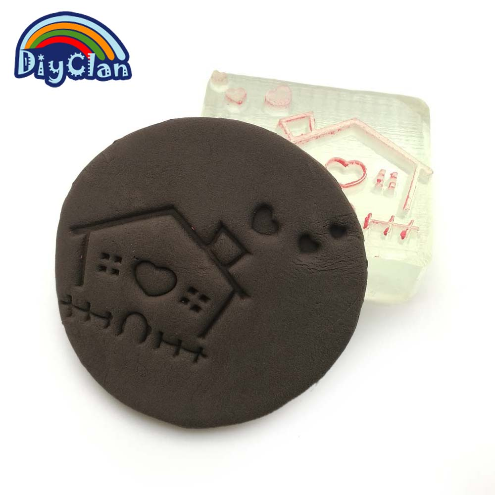Handmade resin soap stamp custom DIY new resin seal Soap printed pattern cartoon house soap chapter Z0111FZ soap handmade resin soap stamp seal soap mold mould 1 97 x1 57