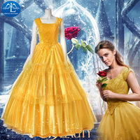 New Arrival Beauty And The Beast Belle Dress Halloween Carnival Princess Costume Evening Dress Cosplay Costume