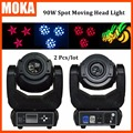 2 Pcs/lot 90w led moving head Spot light beam led wash rgbw 4 in1 dmx 6/16 channels LED stage lighting 6 Gobo Wheel LED Display