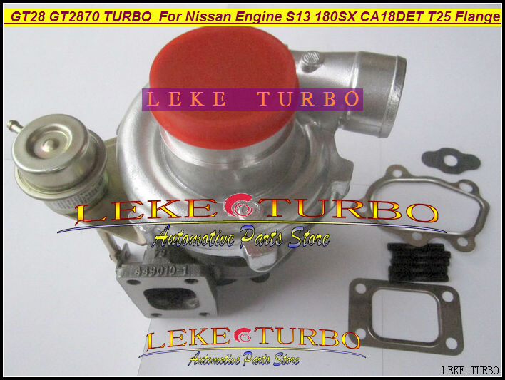 Free Ship Wholesale GT28 GT2870 AR.64 Turbo Turbine Turbocharger For Nissan engine S13 180SX CA18DET T25 Flange oil wet float free ship rhf4 vp47 xnz1118600000 turbo turbine turbocharger for isuzu trooper dongfeng pickup 4jb1t engine wind cooled