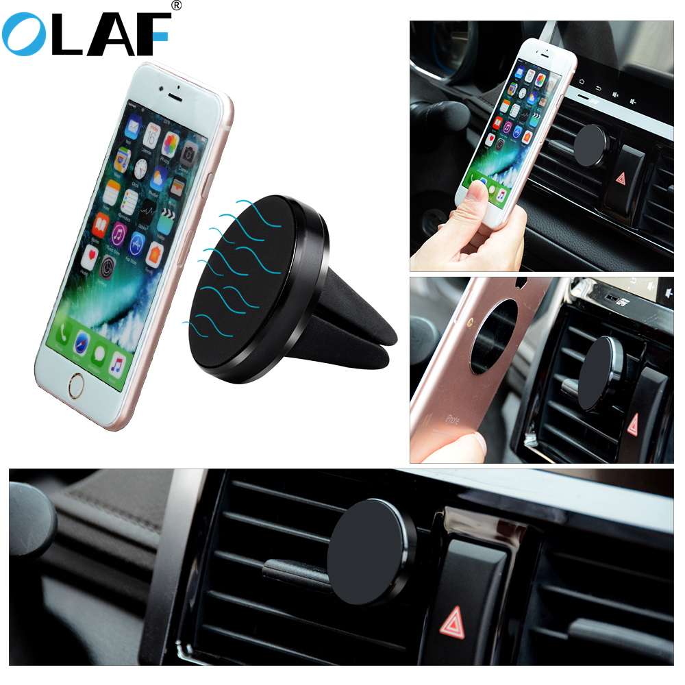 OLAF Car Phone Holder Universal Magnetic Car Air Vent Mount Holder For iphone X Xs Max Samsung Xiaomi Magnet Mobile Phone Stand