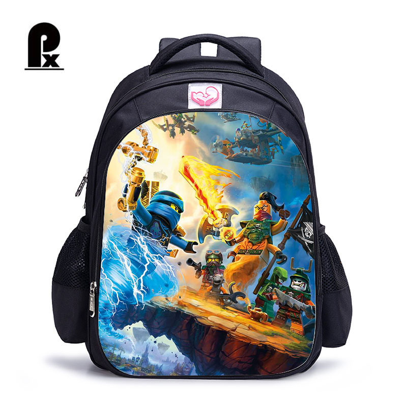 54e31df92b 2018 Children School Bags ninjago Game Schoolbag for Boy Backpack Game  Printing Book Bag Backpack for