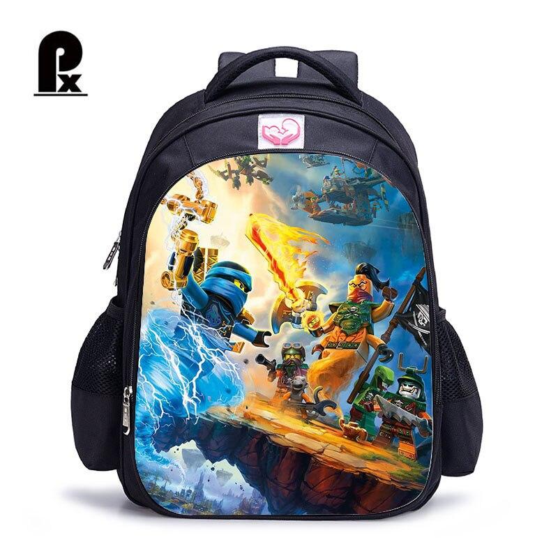 2018 Children School Bags Ninjago Game Schoolbag For Boy Backpack Game Printing Book Bag Backpack For Teenagers Sac A Dos Enfant