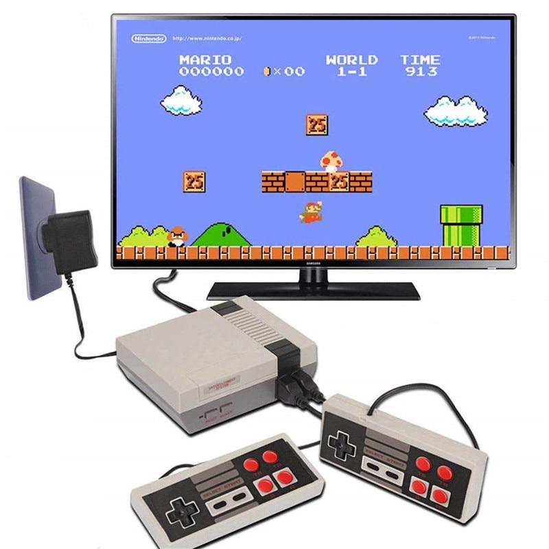 Mini console de jogos de tv 8 bits retro console de jogos de vídeo embutido 620 jogos handheld jogador melhor presente