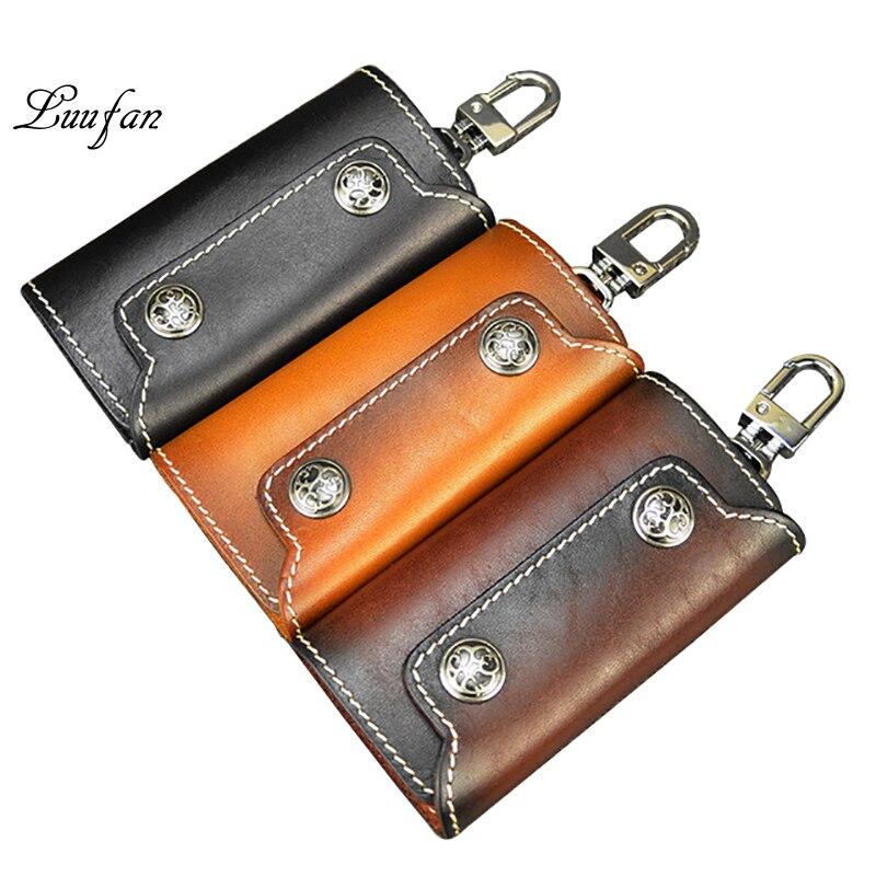 Key-Holder 6-Key Fashion Unisex with Hooks Nice Gift Tanned Vegetable Vintage