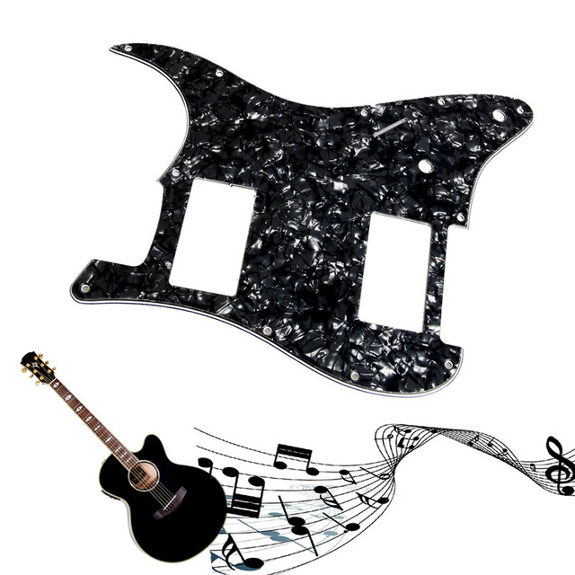 1pc 3ply black pearl guitar pickguard for stratocaster fender strat