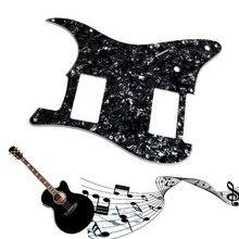 1 unid 3ply negro perla Guitarras pickguard para Fender Stratocaster Strat 2 HH humbucker Guitarras piezas