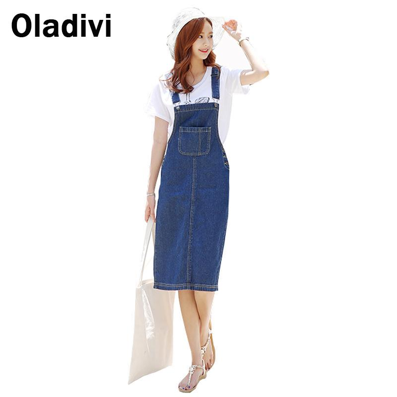 2016 Summer Style Fashion Women Denim Straps Dresses Girl 39 S Casual Blue Denim Dress Women Korean