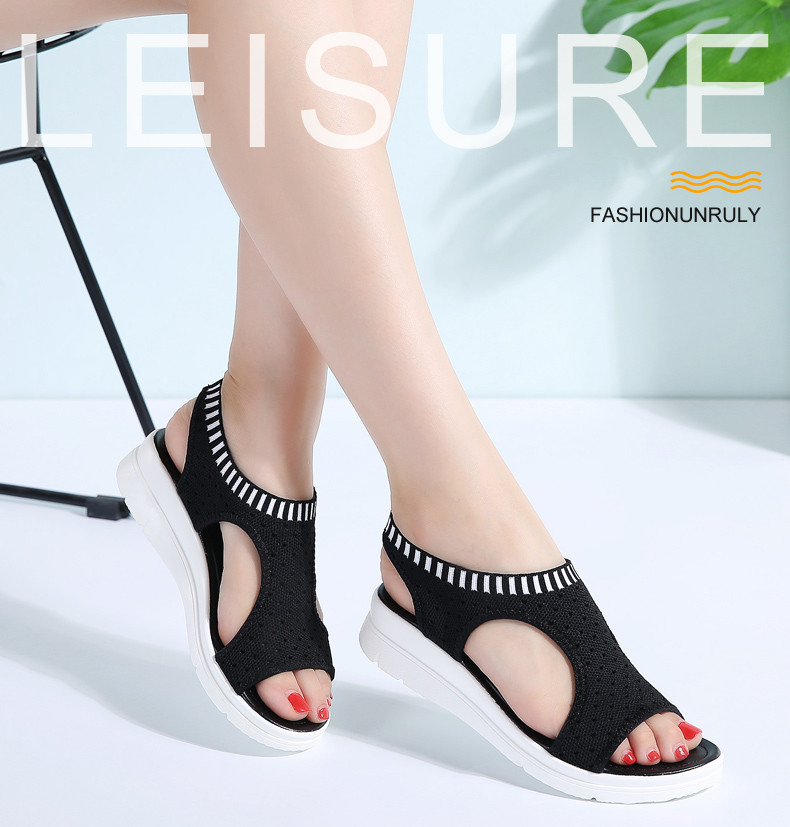 80ab334ebc03 Women Sandals Female Shoes Woman Summer Wedge Comfortable Sandals ...