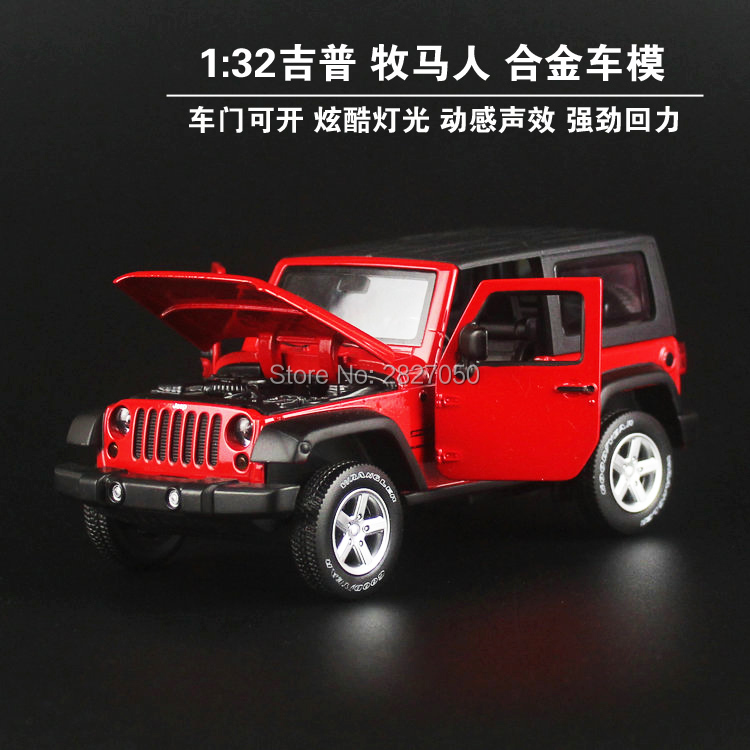1:32 Jeep Wrangler Rubicon Vehicle Model cars toy High Simulation Exquisite off-road Alloy Collection toys car for children 1 32 suv ml63 simulation toy car model alloy pull back children toys genuine license collection gift off road vehicle kids toy