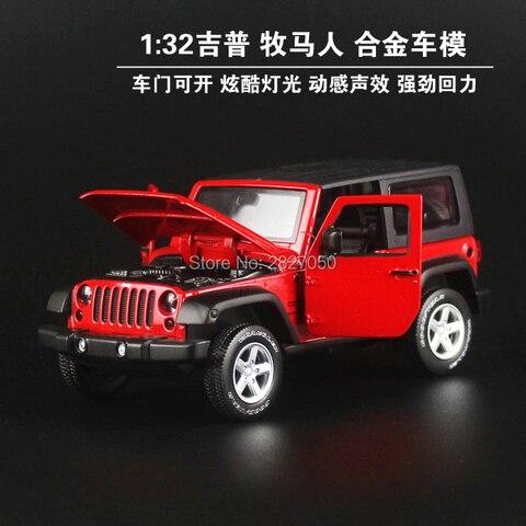 1 32 jeep wrangler rubicon veiculo modelo carros de brinquedo alta simulacao requintado fora de