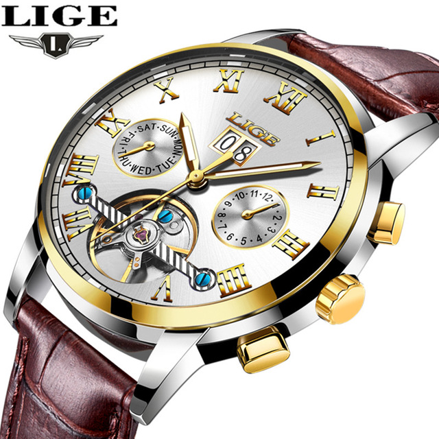 relogio masculino Watches Men LIGE Sport Mens Mechanical Watches Fashion Business Automatic Watch Man Waterproof Leather Clockrelogio masculino Watches Men LIGE Sport Mens Mechanical Watches Fashion Business Automatic Watch Man Waterproof Leather Clock