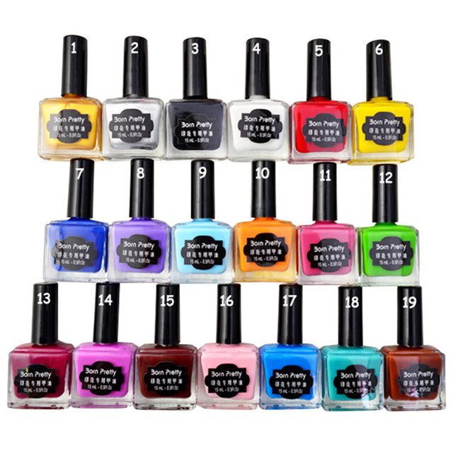 BORN PRETTY 15ml Candy Colors Nail Art Stamping Polish Sweet Style Print Varnish for stamping