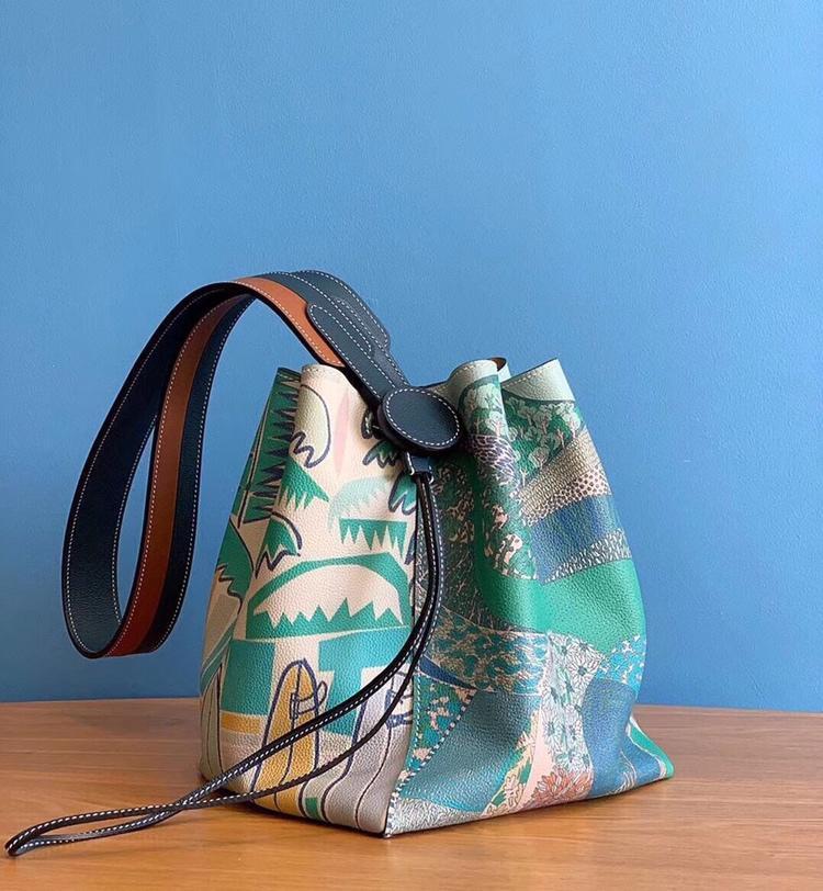 최고의 품질 숙녀 럭셔리 패션 숄더 가방 품질 클래식 100% 가죽 브랜드 유명 숙녀 양동이 가방 전체 매뉴얼-에서숄더 백부터 수화물 & 가방 의  그룹 2