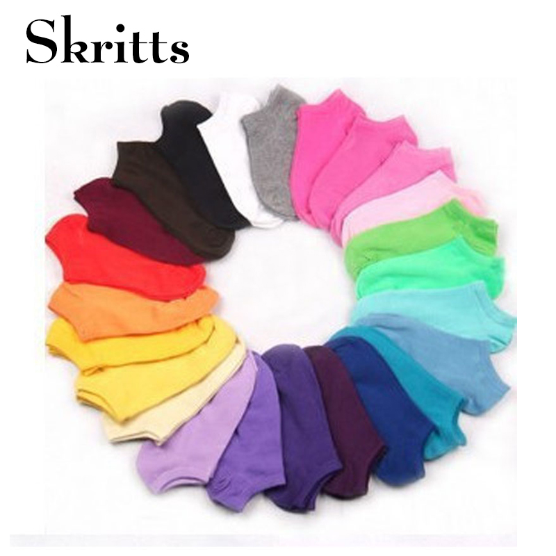 Skritts 10piece 5pair Women's Short   Socks   Print Dot Cute   Socks   for Women Cotton Blends Low Cut Ankle   Socks   Kawaii Winter 2018