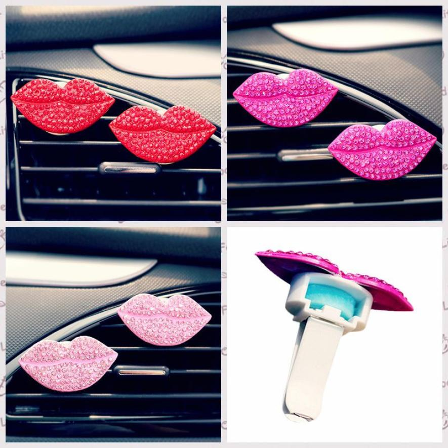 Auto interior Air Freshener Perfume Clip Car Loving Sexy Gift Air Outlet Fragrant Perfume Clip Lips Freshener Diffuser feb13