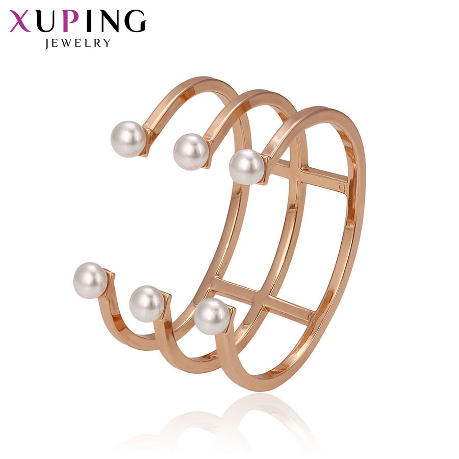 Xuping Fashion Bangle New Arrival Top Sale High Quality Jewelry Women Gift Luxury Gold Color Plated Halloween Gifts S72-51696