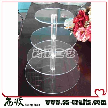 Free Shipping Acrylic 4 tiers cupcake wedding stands