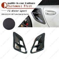 Автомобильные аксессуары углеродного волокна крышка воздухоотвода подходит для 2005 2012 911 997 Turbo сбоку воздуховод воздухозаборника задний вх