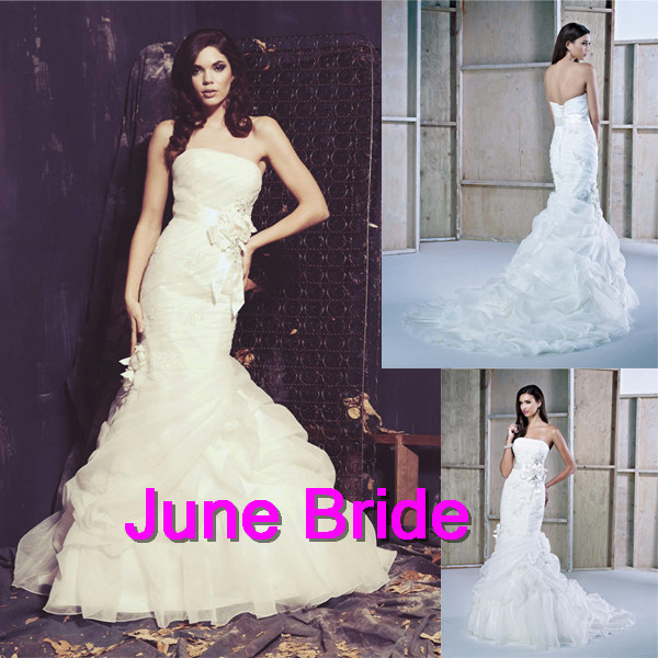 June Bride New Arrival Ella Rosa Collection Trumpet Mermaid Chapel ...