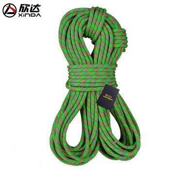 XINDA outdoor power cord mountaineering climbing rope climbing rope safety air defence falling insurance rope equipment 10meter xinda 12 meter outdoor static rope climbing rope rappelling rope high altitude climbing rope safety equipment 9 10mm rope