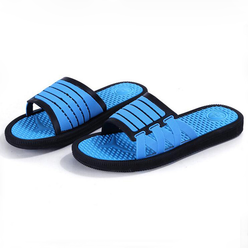High Quality Men's Household Slippery Wear-Resisting Massage Waterproof Breathable Indoor Slippers Male Slipper Shoes Pantufa men s and women s bathroom slippers summer bathhouse slippers eva hotel slippery wear resisting couples cross belt slipper