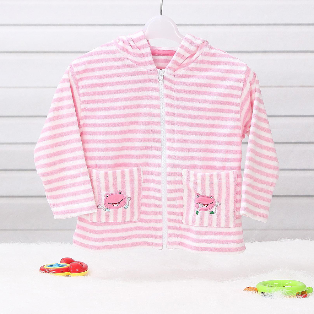 LeJin Baby Clothing Baby Hoodies Toddler Sweatshirt Outerwear Coat in Autumn with Embroidery in Terry