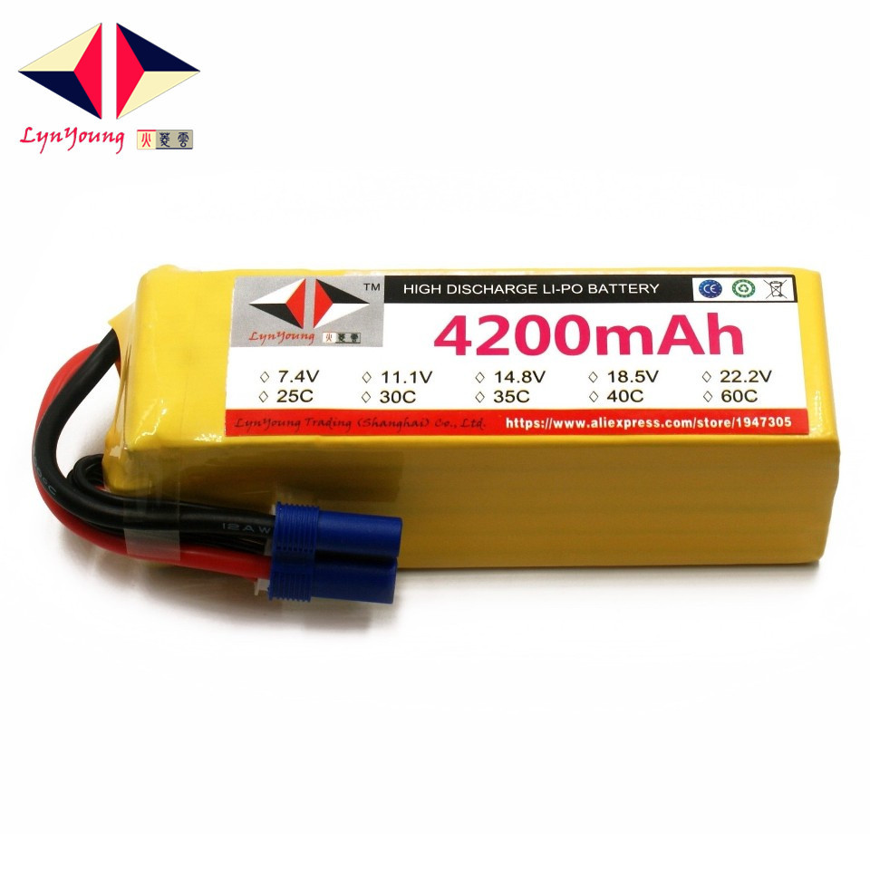 LYNYOUNG 6S RC LiPo battery 22.2V 4200mAh 40C Max 80C For car Drone Airplane Helicopter toy partLYNYOUNG 6S RC LiPo battery 22.2V 4200mAh 40C Max 80C For car Drone Airplane Helicopter toy part