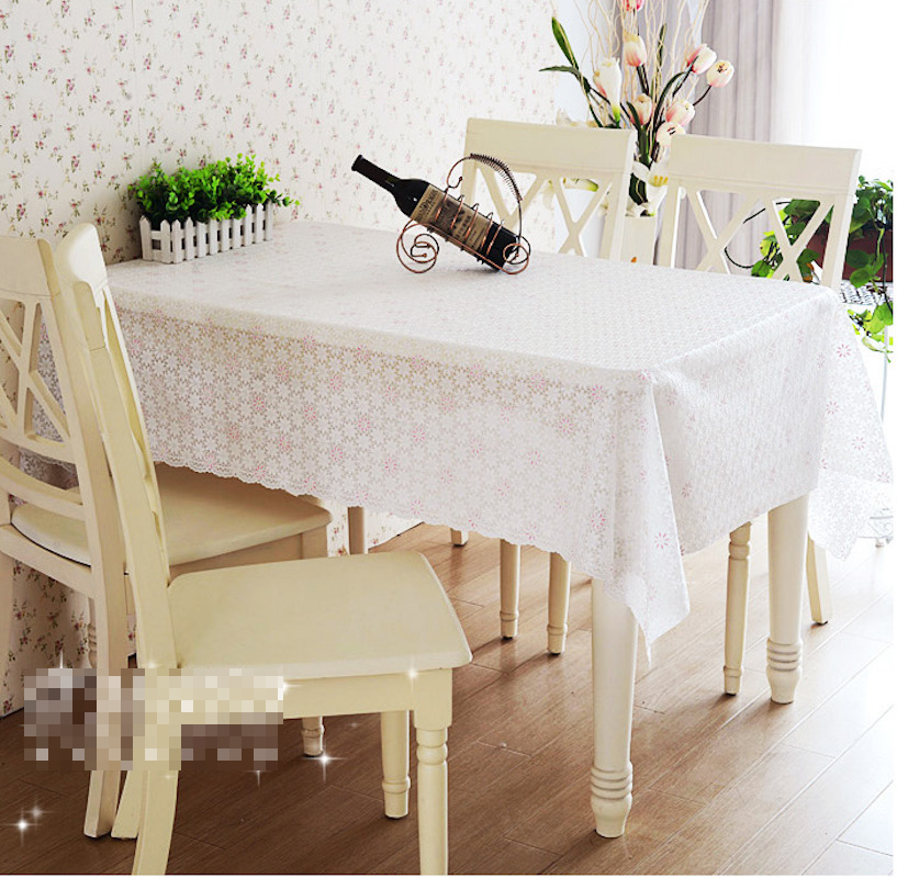 Quality PVC Tablecloth Dining Table Plastic Cover Coffee End Table ...