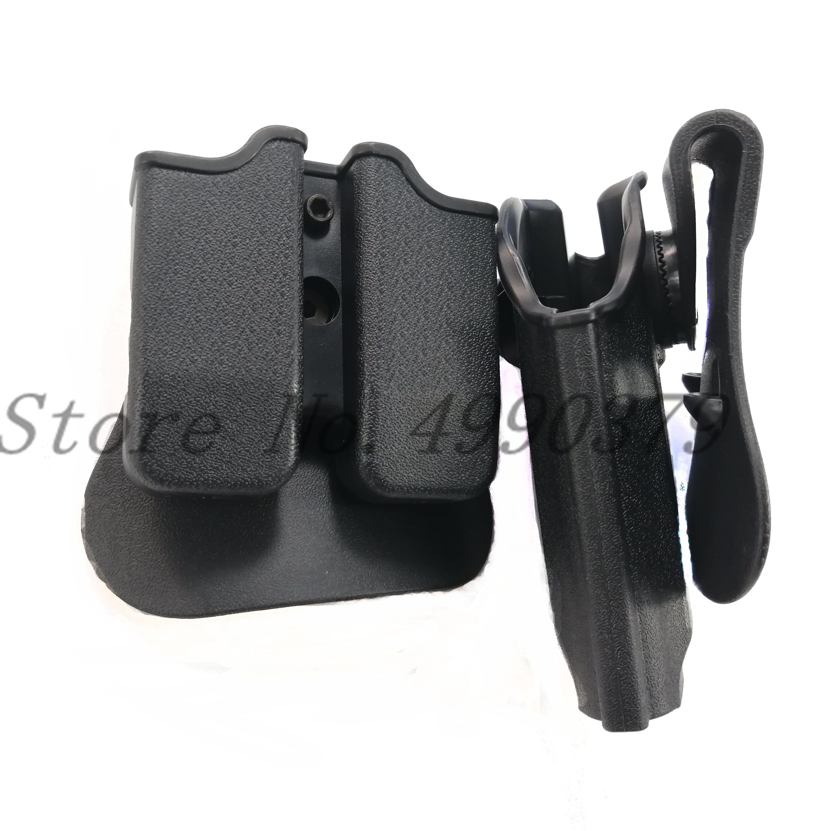 Image 3 - Tactical Hunting IMI Holster Glock 17 19 Belt Loop Paddle Platform Gun Pistol Holsters with Magazine Clip Pouch Hunting Gear-in Holsters from Sports & Entertainment