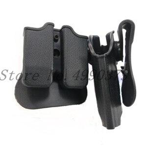 Image 3 - Taktische Jagd IMI Holster Glock 17 19 Gürtel Schleife Paddle Plattform Gun Pistole Holster mit Magazin Clip Pouch Jagd Getriebe