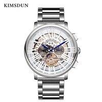 Relojes de lujo para hombre  relojes de diseño Tourbillon de acero inoxidable  KIMSDUN  relojes automáticos para hombre  reloj mecánico