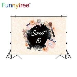 Image 1 - Funnytree aanpassen vinyl fotografie achtergrond pastel parfum bloem cosmetische sweet 16 tiener fotostudio photobooth photocall