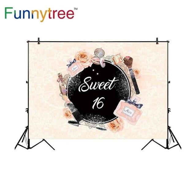 Funnytree aanpassen vinyl fotografie achtergrond pastel parfum bloem cosmetische sweet 16 tiener fotostudio photobooth photocall