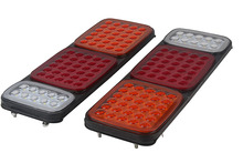 1 Pair 70LED Car Rear Tail Lights Stop Turn Signal Reverse Lamp for 24V Truck Trailer Caravan Van Lorry
