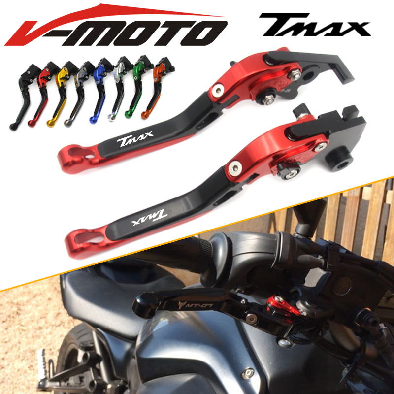 For YAMAHA T MAX 530 TMAX 530 2012-2017 T MAX 500 TMAX 500 2010 2011 Motorcycle Accessories Short Brake Clutch Levers 04 05 06 07 08 09 10 11 12 13 14 new cnc short straight adjustable brake clutch lever for yamaha majesty 400 t max 500 t max 530