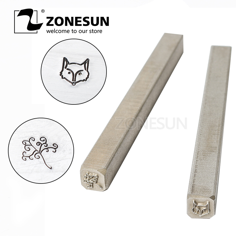 ZONESUN Fox Custom Steel Stamp Mold Punch Marking Tool For Embossing Metal Jewelry Stamping Gold Rings Bracelet Necklace BuckleZONESUN Fox Custom Steel Stamp Mold Punch Marking Tool For Embossing Metal Jewelry Stamping Gold Rings Bracelet Necklace Buckle