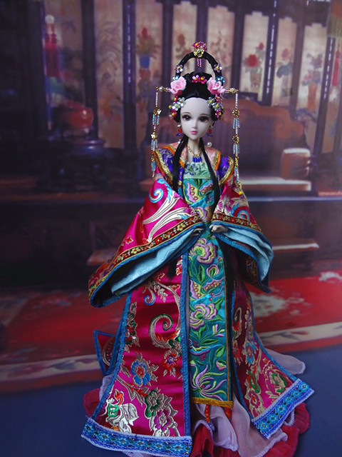 Chinese Princess Dolls Collectible Oriental Doll BJD Girl Doll Toys With Flexible Joints Body / 3D Realistic Eyes Souvenir Gifts