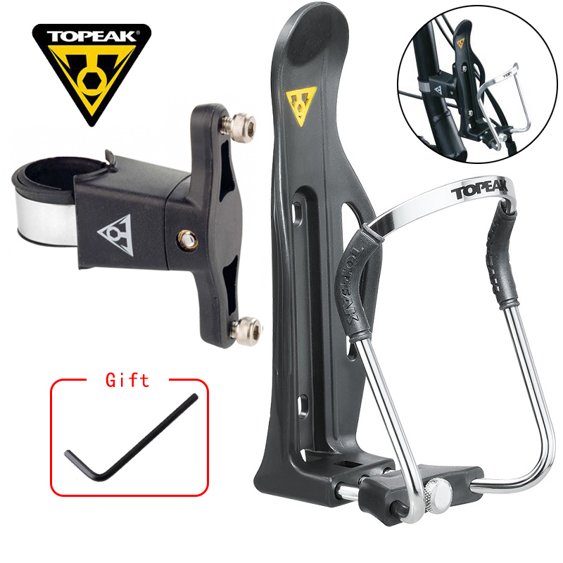 TOPEAK Bicycle Bottle Holder High Quality Aluminum Alloy Adjust MTB Road Bike Drink Cup Water Bottle Holder Rack Cage TMD06B купить недорого в Москве