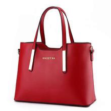 New Fashion Leather Bag Ladies Tote Shoulder Bag font b Handbags b font Women Famous Brands