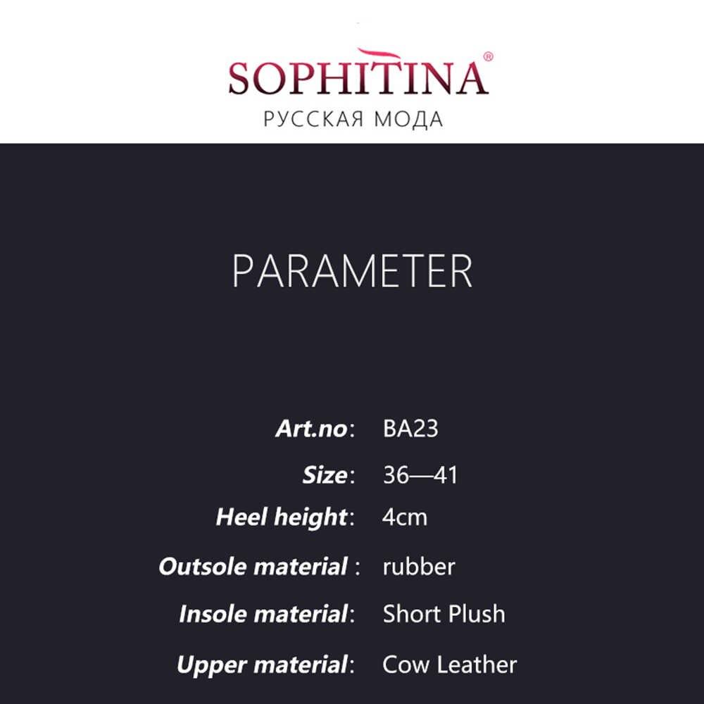 SOPHITINA אופנה מלא עור אמיתי חורף מגפיים למעלה איכות נוח נמוך עקבים נעליים בעבודת יד צמר פרווה אישה מגפי BA23