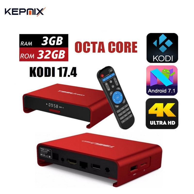 T95U Pro Amlogic S912 OCTA Core 2G 16G/3G 32G Android 7.1 TV Box H.265 kodi fully loaded 4K 5G Dual band Wifi h96 pro km8 pro 10pcs android tv box amlogic s912 8 core km8 pro 2g 16g android 6 0 dual wifi fully loaded unlocked 4k bt4 0
