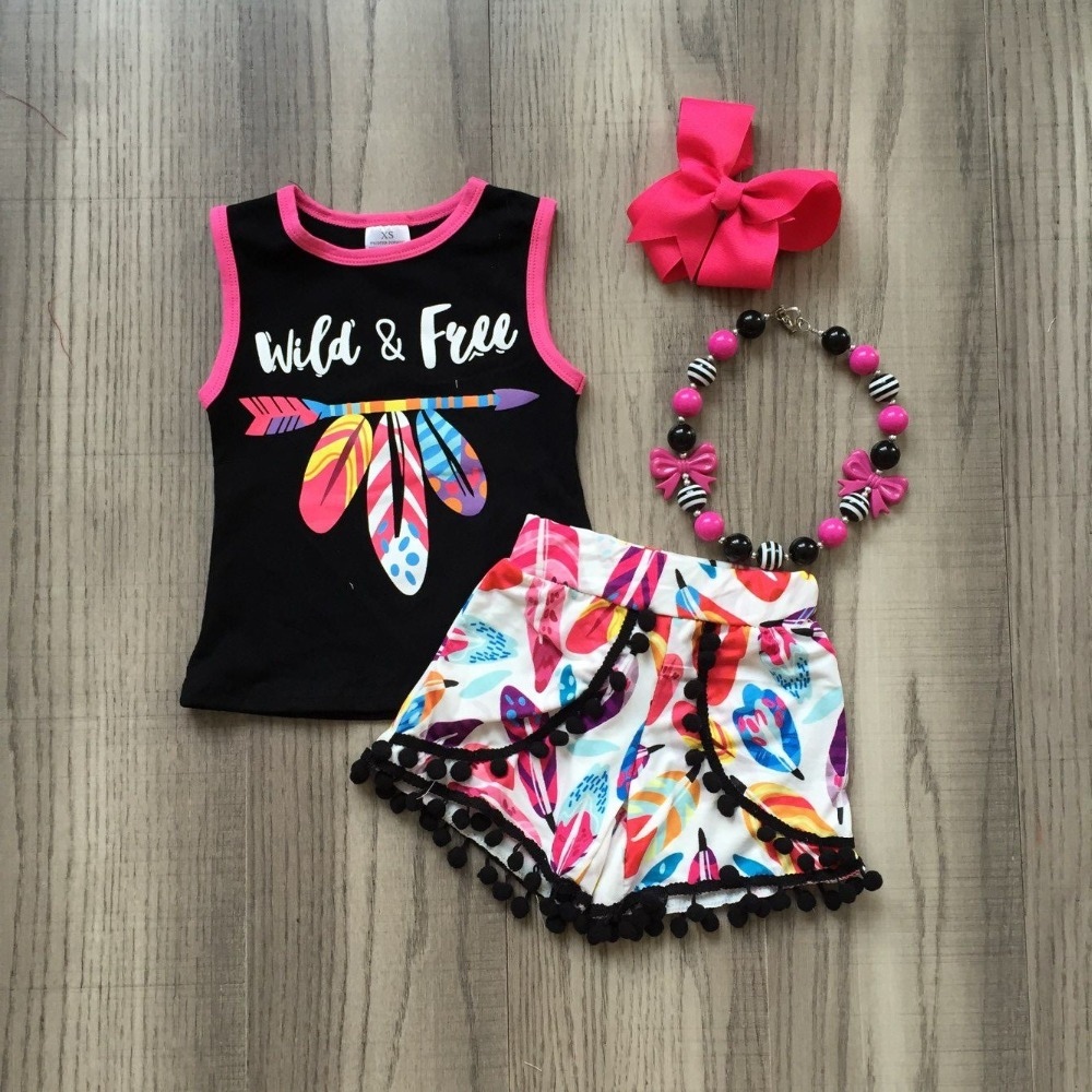 baby  girls summer clothing girls always to a WILS AND RREE top outfits feather plume pants  with accessories baby  girls summer clothing girls always to a WILS AND RREE top outfits feather plume pants  with accessories