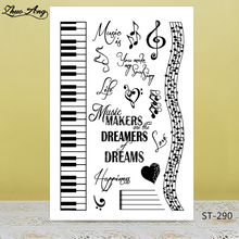 musical note/piano Transparent Silicone Stamp/Seal for DIY Scrapbooking/Photo Album Decorative Card Making Clear Stamps Supplies