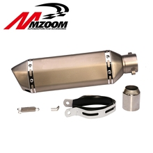 51mm Motorcycle Exhaust Muffler Pipe Escape Moto Exhaust Fit for Most motorcycle GSXR CBR without sticker