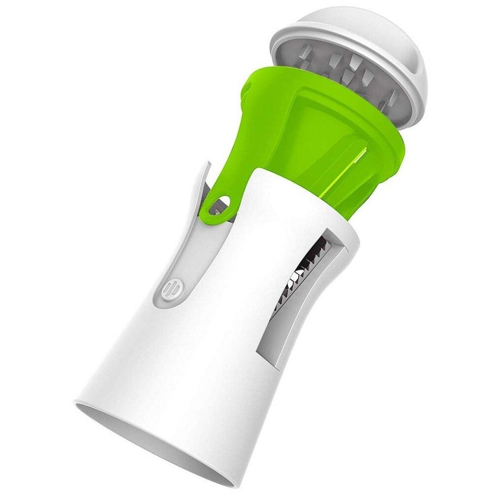 Tragbare Spiralizer Gem se Slicer Handheld Spiralizer Sch ler Edelstahl Spirale Slicer f r Kartoffeln Zucchini